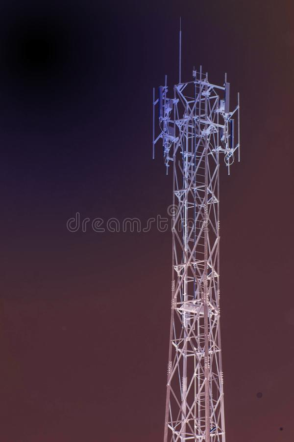 Invert color antenna. Image of invert color antenna back background royalty free stock photo