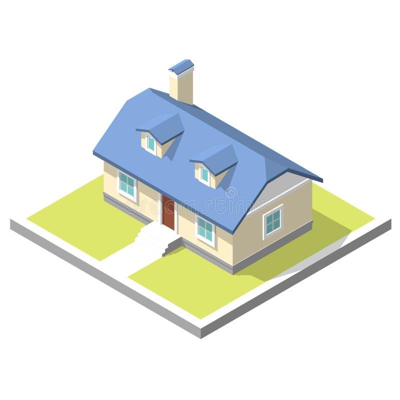 Image isométrique d'une maison privée illustration libre de droits