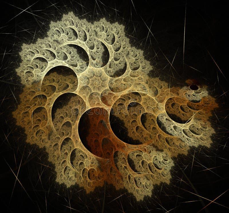 Image itérative générée par ordinateur artificielle abstraite d'art de fractale de flamme d'un interpréteur de commandes interacti illustration libre de droits