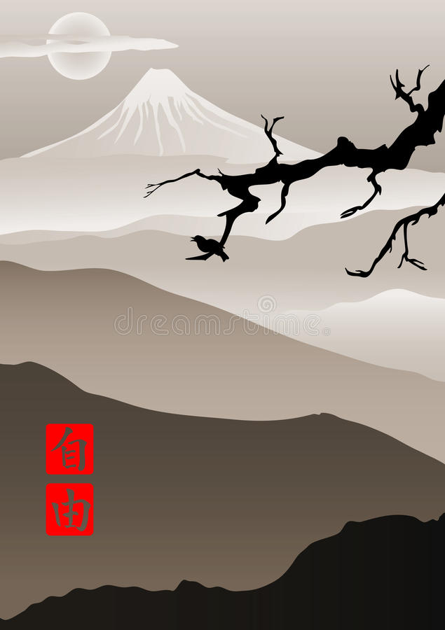 Image in Japanese style vector illustration