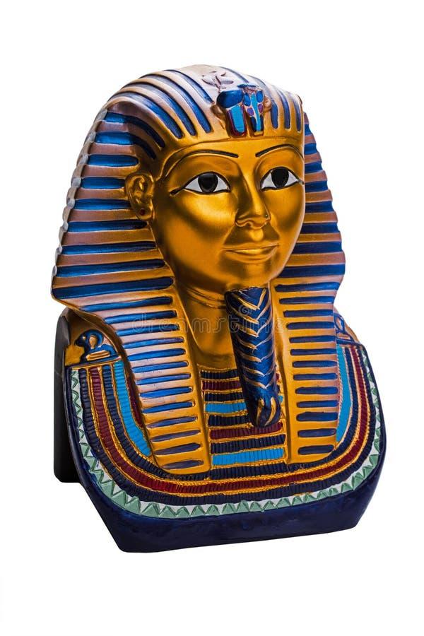 Image of of King Tutankhamun. Isolated on white background stock photos