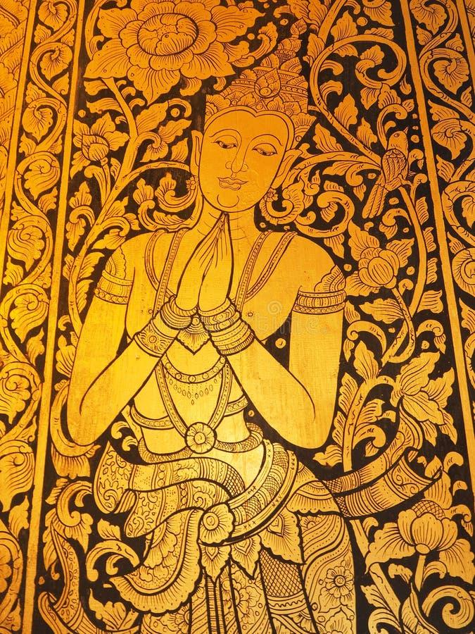 Image la fenêtre de Wat Chedi Luang image libre de droits