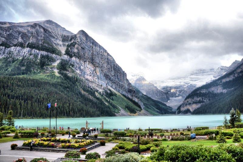 Lake Louise. Image of Lake Louise from Fairmont Hotel at Alberta Canada stock image
