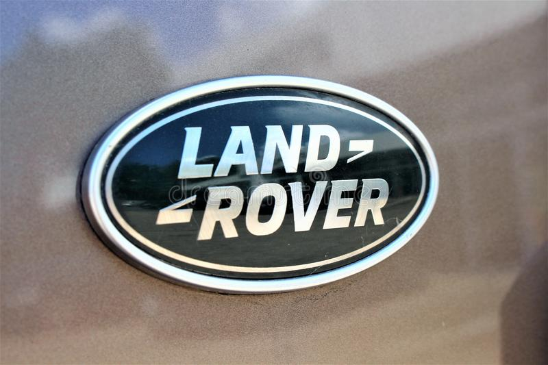 An image of a Land Rover Logo - Bielefeld/Germany - 07/23/2017 stock images
