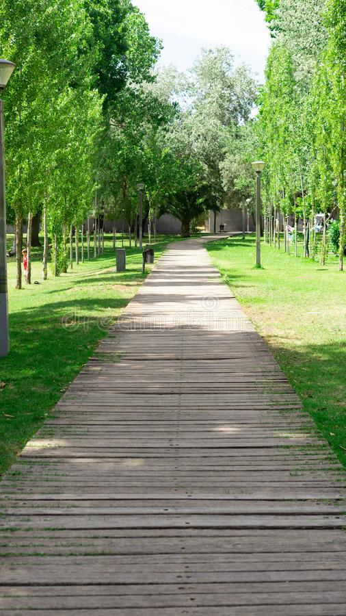 Landscape of a garden. This image it is landscape of a garden in Lisbon , Portugal stock images