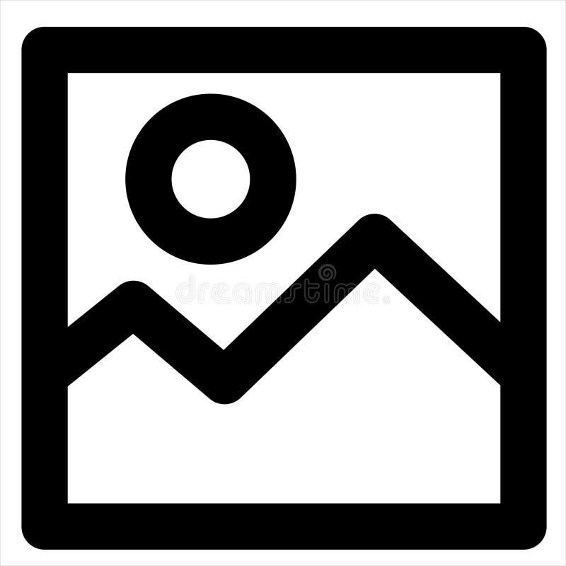 Image, landscape, photo, picture, scenery icon.  stock illustration