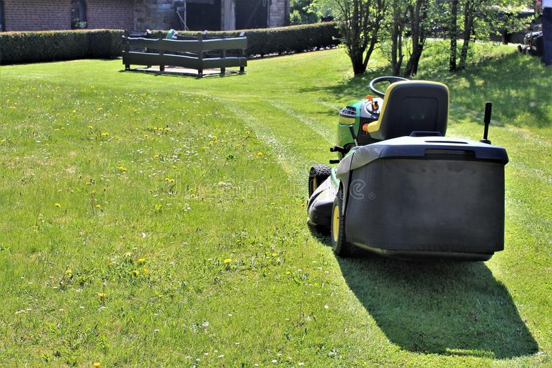 An image a of lawn mowing. An concept image a of lawn mowing - abstract stock photography