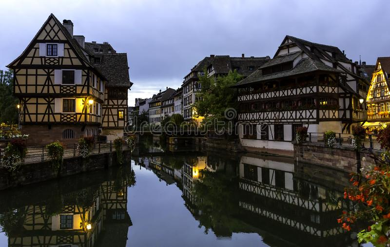 Le Petite France in Strasbourg. Downtown, timbered. stock image