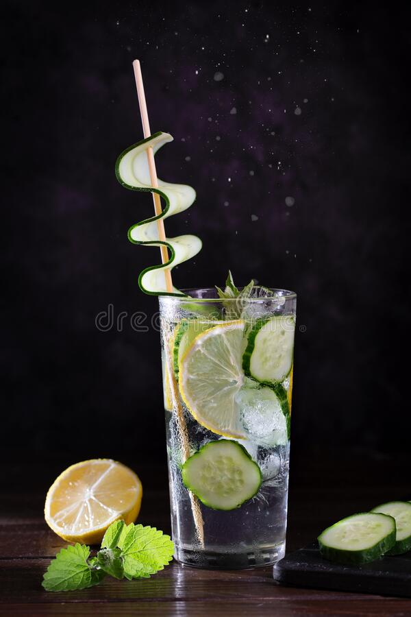 Image with lemonade. stock photos