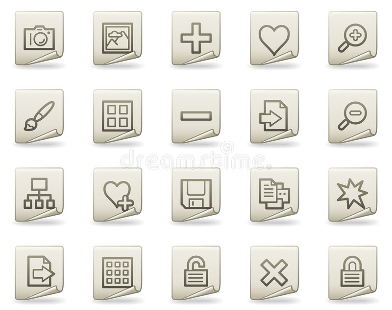 Download Image Library Web Icons, Document Series Royalty Free Stock Photography - Image: 9107097