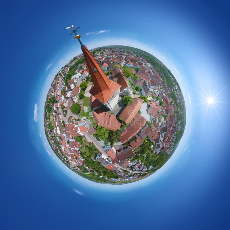 Little planet from Weissach Germany. An image of a little planet from Weissach Germany royalty free stock photos