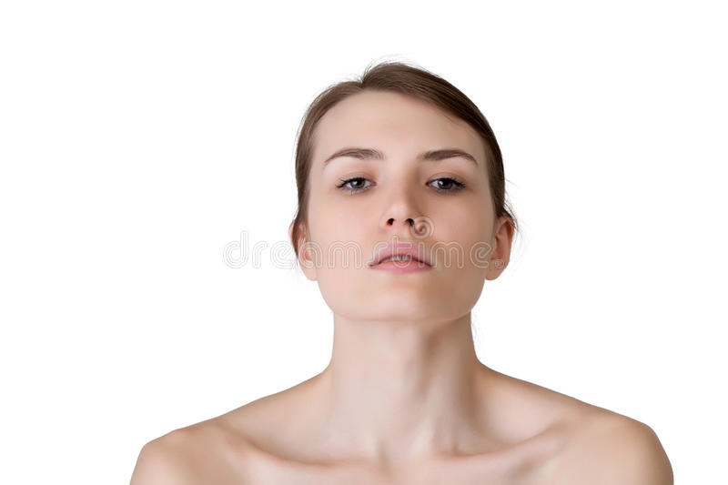 Image Of Lovely Caucasian Girl Looking At Camera Stock Photography
