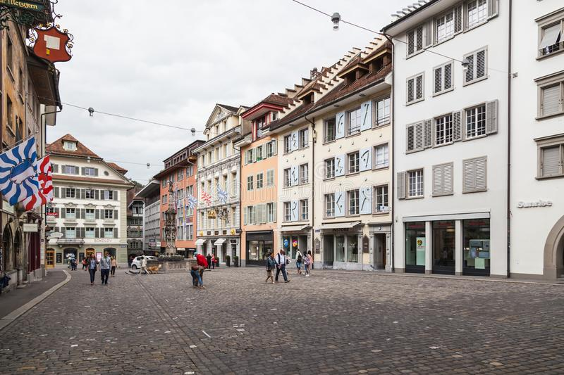 City of Luzern, Switzerland stock image