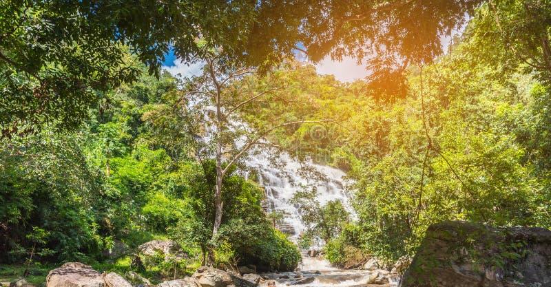 & x22;Mae Ya& x22; waterfall in Chiang Mai, Thailand. stock images