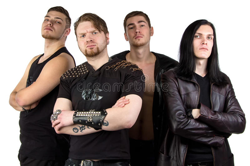 Image of the man's metal band. On white background royalty free stock photo