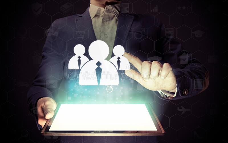 Business recruitment or hiring photo concept. stock images
