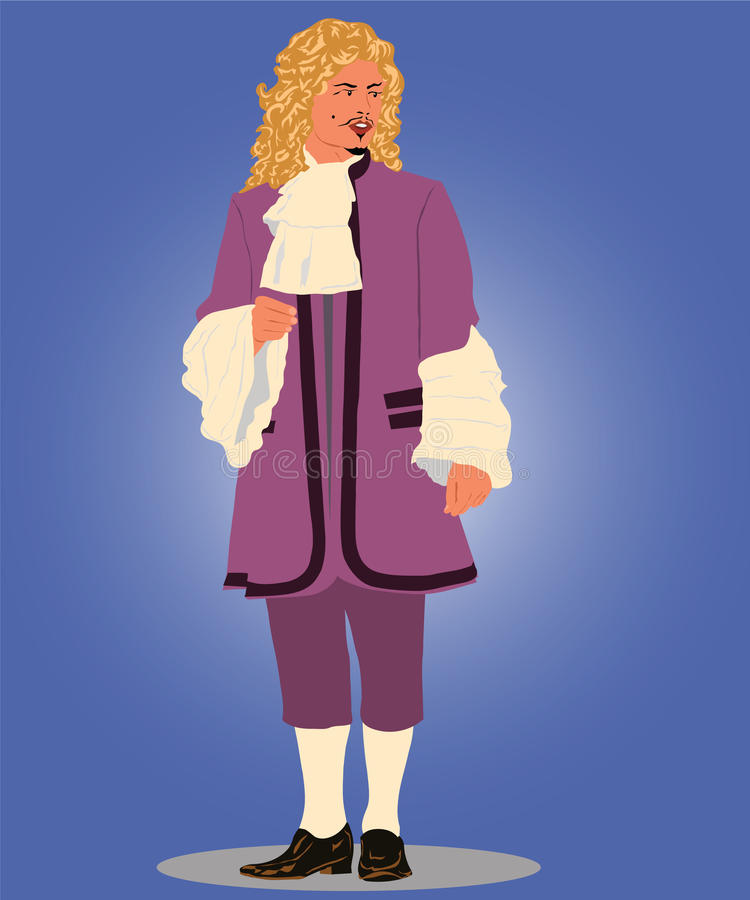 Download Image Of Man In A Yellow Wig Stock Vector - Illustration of century, history: 17412039