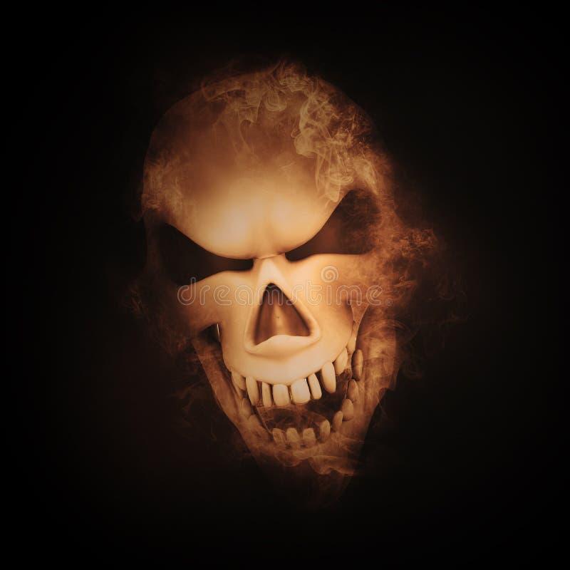 image mauvaise du crâne 3D illustration stock