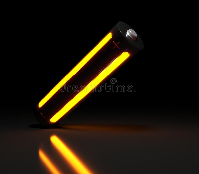 Image of a modern battery stock photography