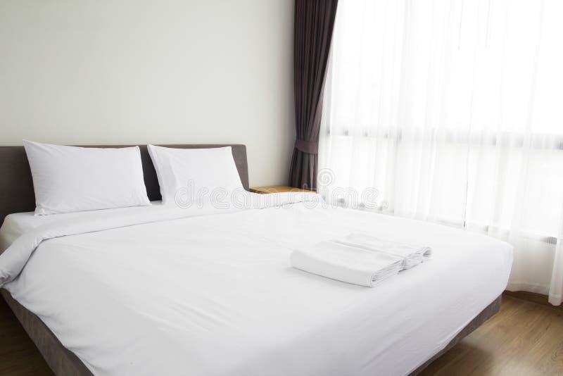 Empty bedroom interior stock photo