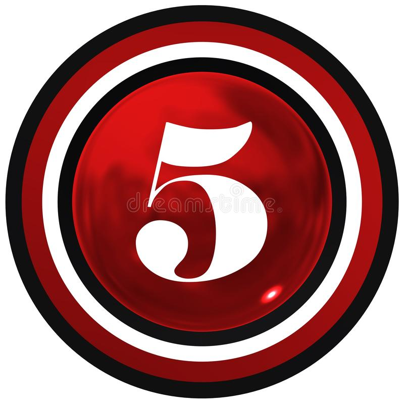 Cool number five over sport and bright race sphere stock illustration