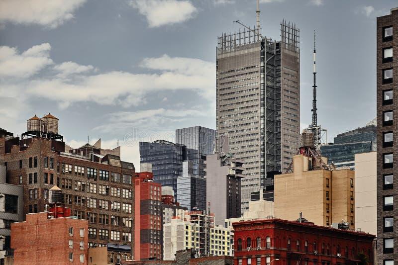 Image modifiée la tonalité par couleur d'horizon de New York City images libres de droits