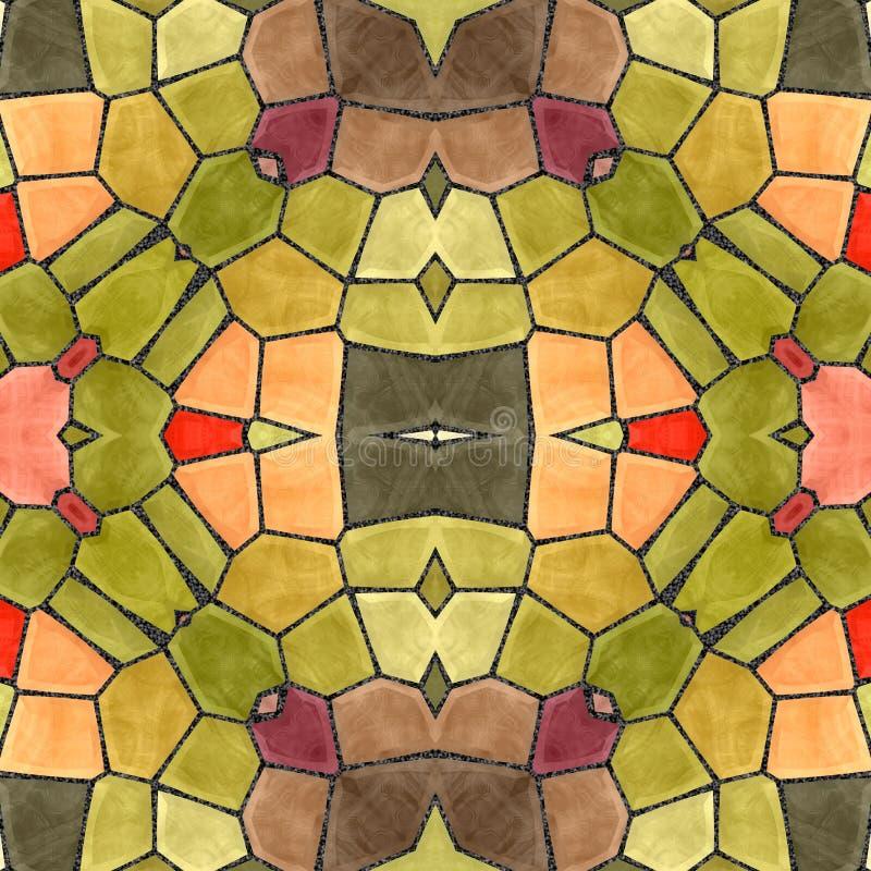 Image mosaic kaleidoscopic tiles. stock image
