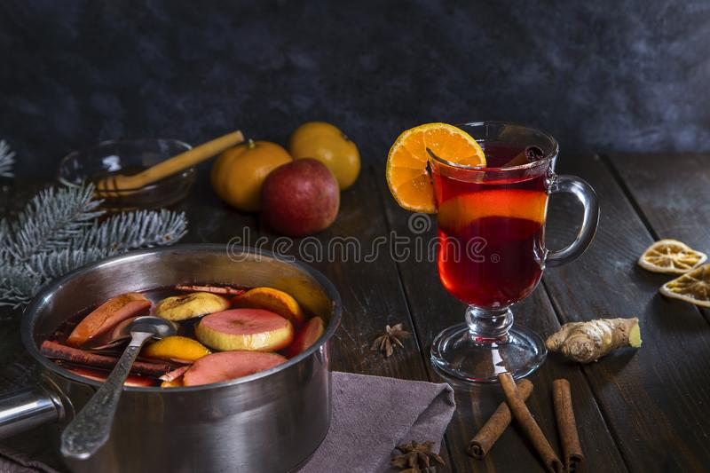 Image with mulled wine stock images