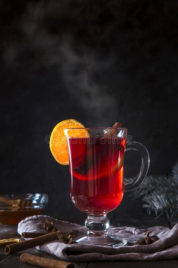 Image with mulled wine stock image