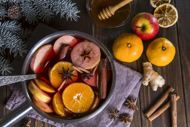 Image with mulled wine royalty free stock photo