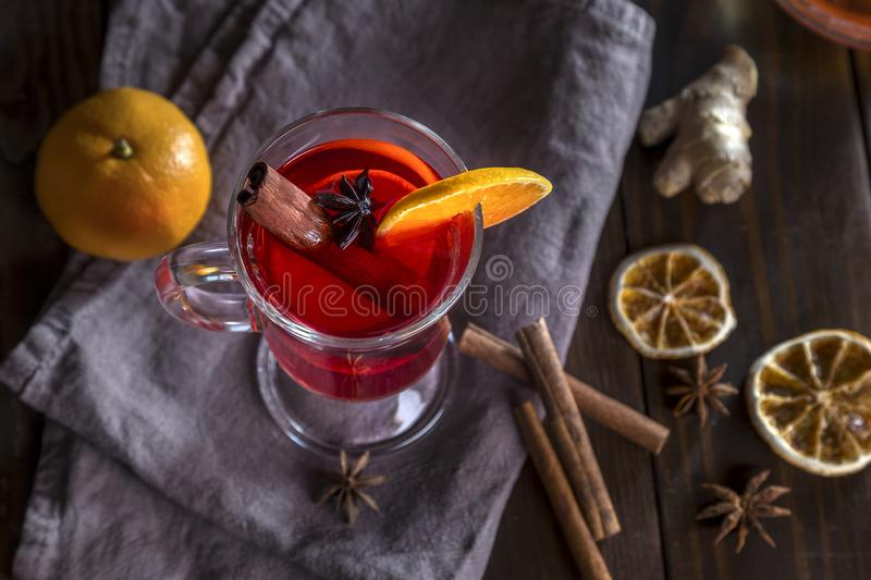Image with mulled wine stock photography
