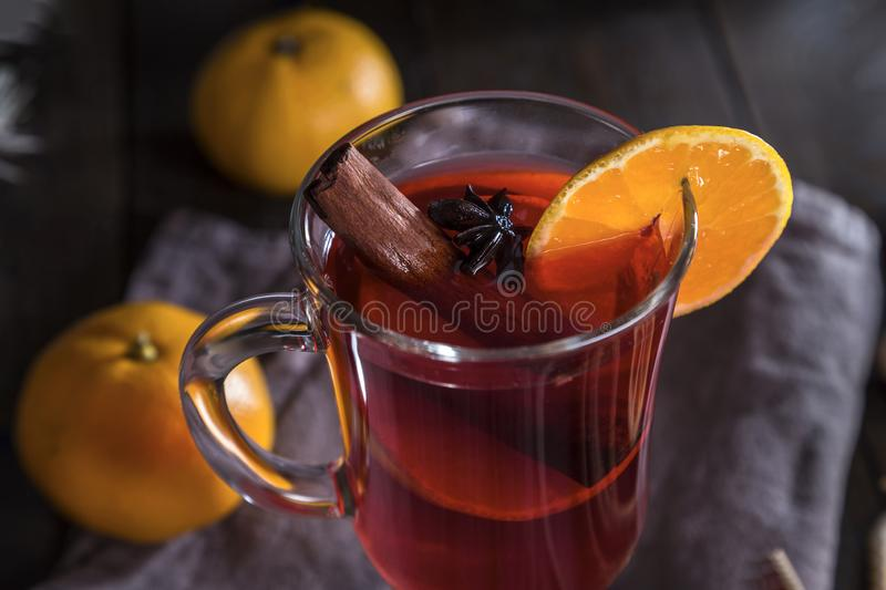 Image with mulled wine royalty free stock image