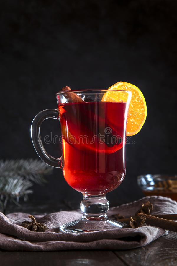 Image with mulled wine stock photo