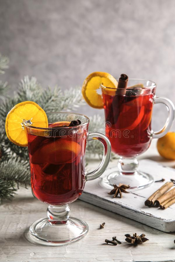 Image with mulled wine royalty free stock photos