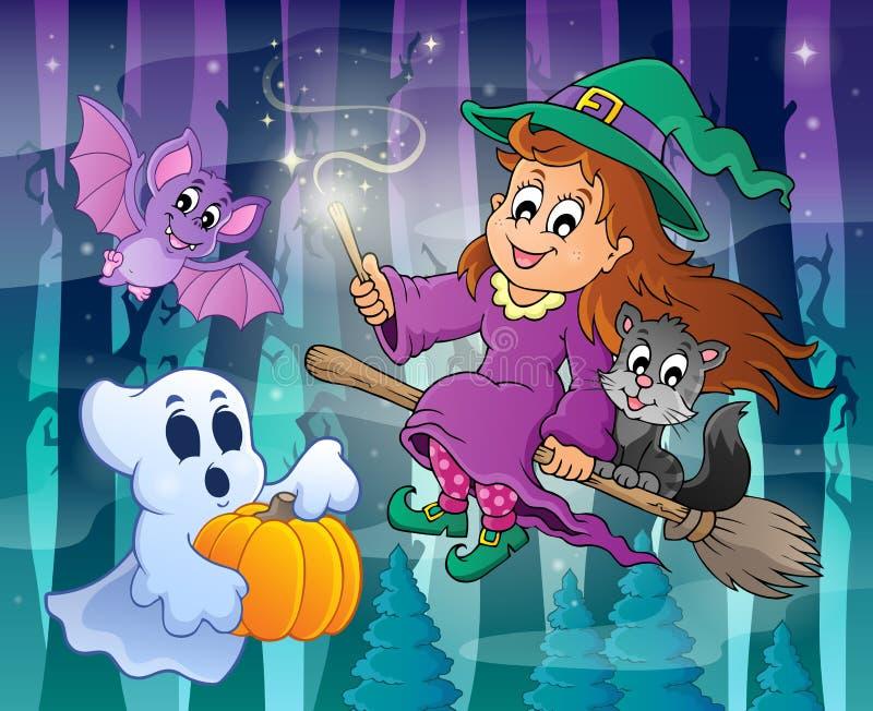 Image mystérieuse 3 de thème de forêt illustration stock