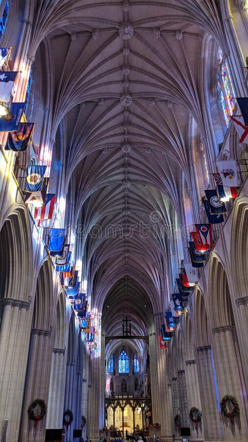 National Cathedral in Washington, D.C. royalty free stock photos