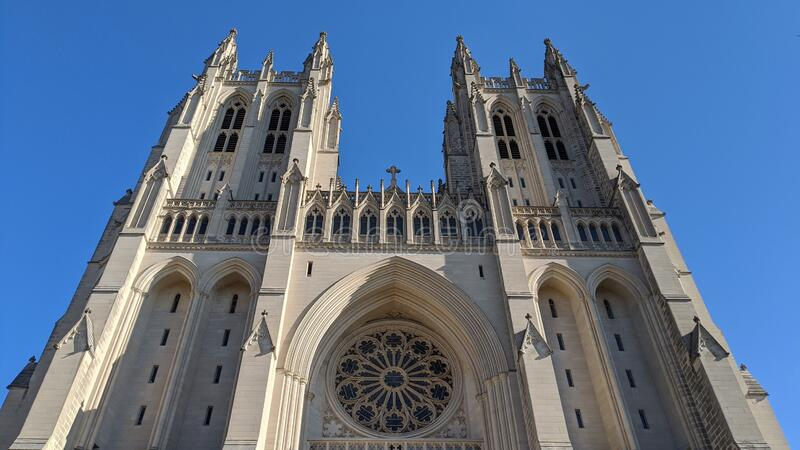 National Cathedral in Washington, D.C. stock photos
