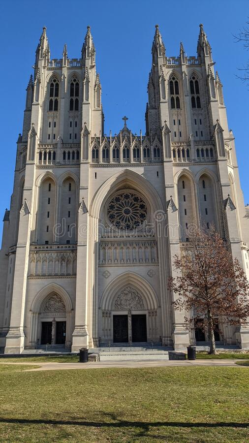 National Cathedral in Washington, D.C. stock photography