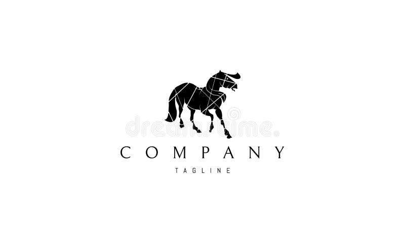 Image noire de logo de vecteur de cheval illustration de vecteur