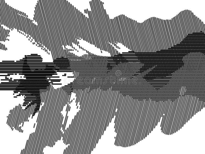 Image noire et blanche abstraite impeccable illustration libre de droits