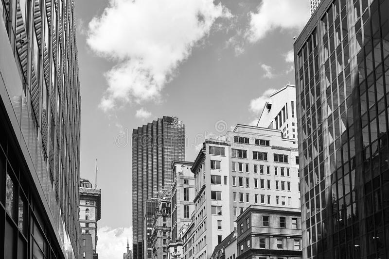 Image noire et blanche d'architecture diverse de New York City image libre de droits