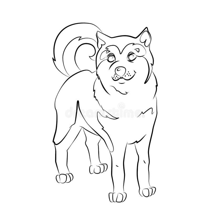 Image noire et blanche d'un chien illustration stock