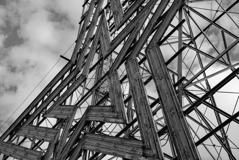 Image noire et blanche de l'étoile historique de Roanoke, Roanoke, la Virginie, Etats-Unis images libres de droits