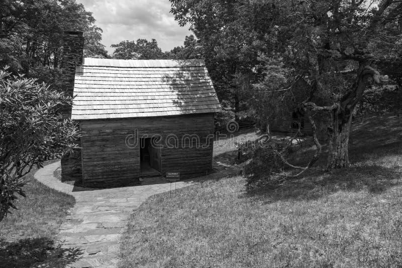 Image noire et blanche de la cabine de Brinegar image libre de droits