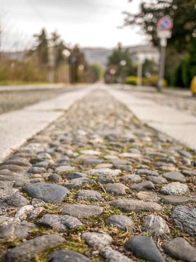 Free Image Of View Along Copplestone Street From Bottom Perspective Royalty Free Stock Image - 148268026