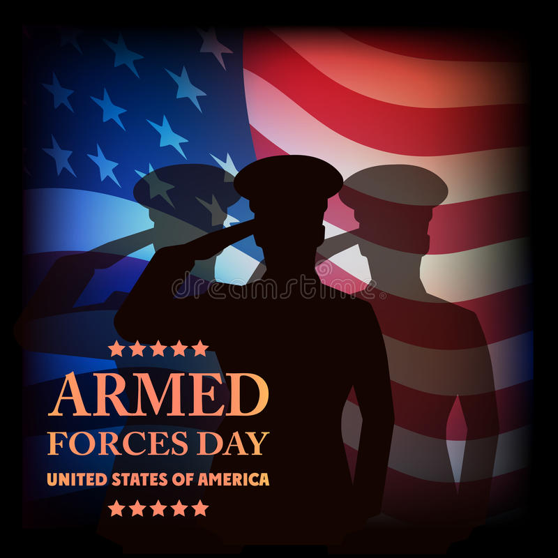 The image on old paper a card by armed forces day. On the image presented The image on old paper a card by armed forces day stock illustration