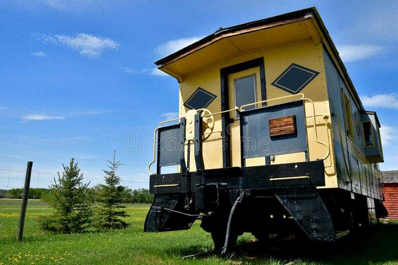 Vintage Train Caboose royalty free stock image