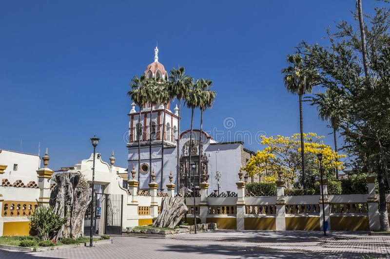 Image of the outside of the church of San Pedro Apóstol. Beautiful image of the outside of the church of San Pedro Apóstol in a wonderful and sunny day in royalty free stock photo