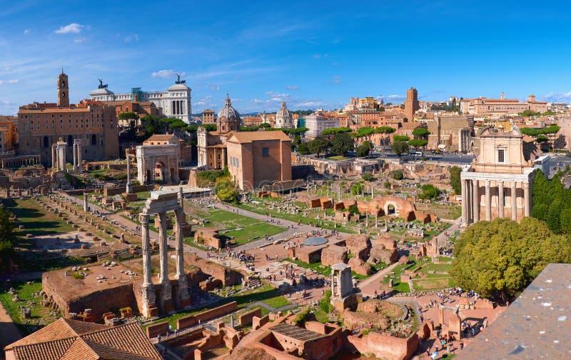 Image panoramique de Roman Forum à Rome, Italie photos libres de droits