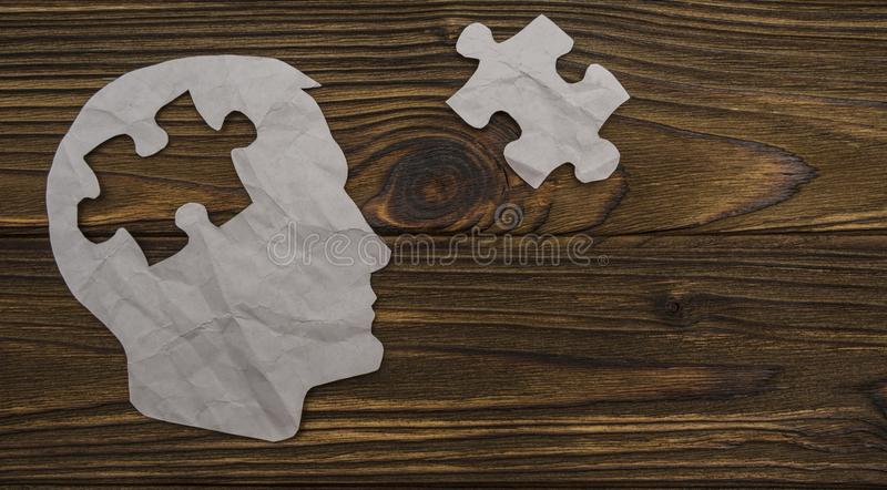 Image of paper in the form of a head royalty free stock images
